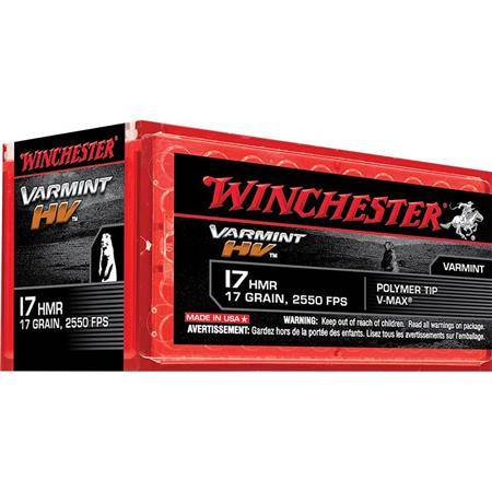 Balle 17Hmr Winchester Varmint Hv - Calibre 17Hmr