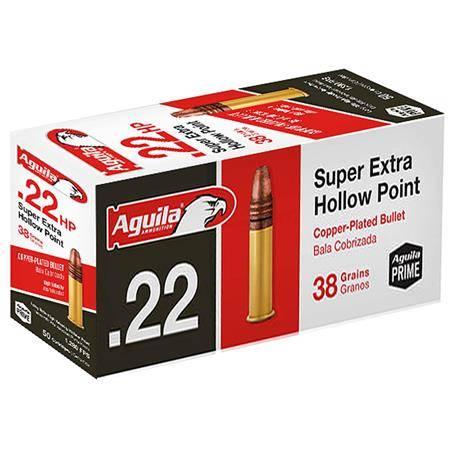 Balle 22Lr Aguila Super Extra Creuse Cuivrée - Calibre 22Lr