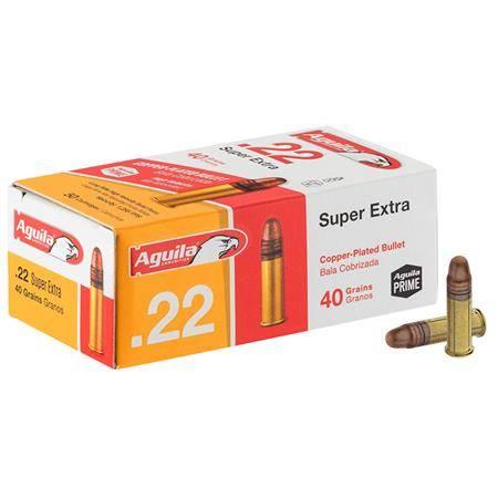 Balle 22Lr Aguila Super Extra Pleine Cuivrée - Calibre 22Lr