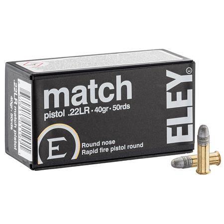 Balle 22Lr Eley Match Pistol - Calibre 22Lr