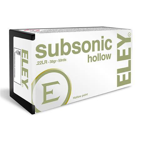 Balle 22Lr Eley Subsonic Hollow Point - Calibre 22Lr