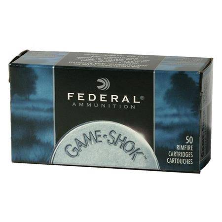 BALLE 22LR FEDERAL GAME SHOK RIMFIRE - CALIBRE 22LR