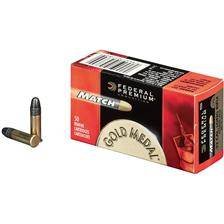 Balle 22lr federal gold medal rimfire - calibre 22lr