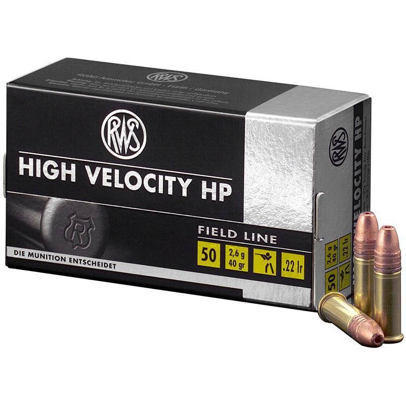 Balle 22Lr Rws High Velocity Hp - Calibre 22Lr