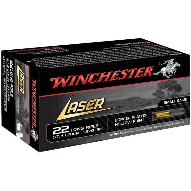 Balle 22Lr Winchester Laser Cp Hp - 37.5Gr - Calibre 22Lr