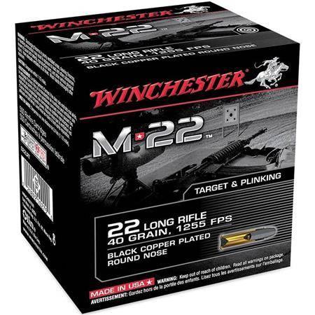 Balle 22Lr Winchester M22 Black Cprn - 40Gr - Calibre 22Lr
