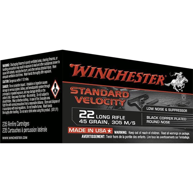 Balle 22Lr Winchester Standard Velocity - Calibre 22Lr