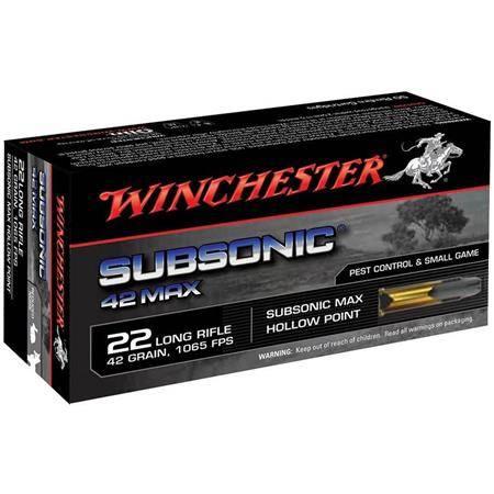 Balle 22Lr Winchester Subsonic - 42Gr - Calibre 22Lr