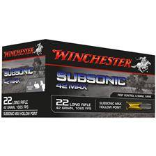 Balle 22lr winchester subsonic - calibre 22lr