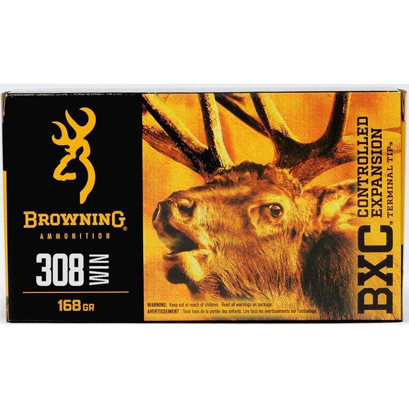 BALLE DE CHASSE BROWNING BXC - 168GR - CALIBRE 308 WIN