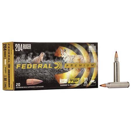 Balle De Chasse Federal Nosler Ballistic Tip Vital Shok - 70Gr - Calibre 243 Win
