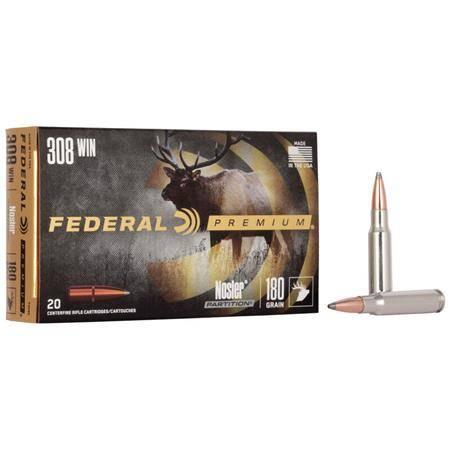 Balle De Chasse Federal Nosler Partition Vital Shok - 300Gr - Calibre 375 H&H