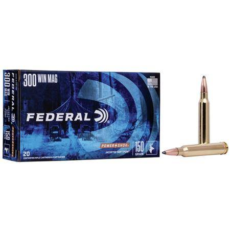 Balle De Chasse Federal Soft Point Power Shok - 300Gr - Calibre 375 H&H