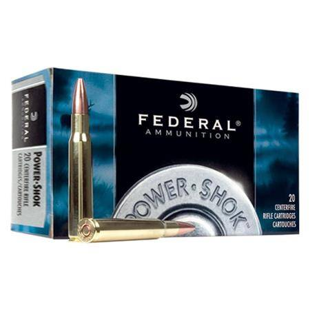 BALLE DE CHASSE FEDERAL SOFT POINT POWERSHOK - 100 GR - CALIBRE 243 WIN