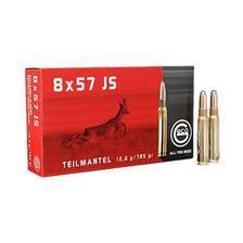 Balle de chasse geco demi blindee - 185gr - calibre 8x57 js