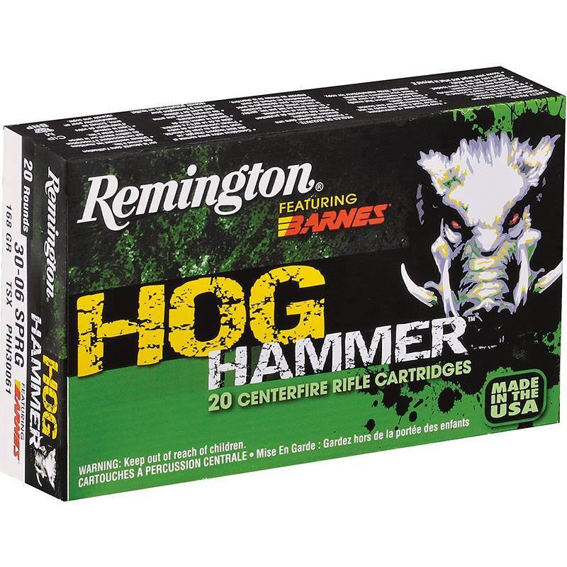 Balle De Chasse Remington Hog Hammer - 100Gr - Calibre 30-06 Sprg