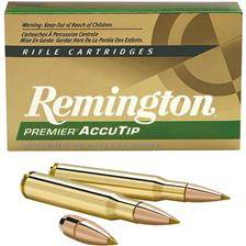 Balle de chasse remington premier accutip - 165gr - calibre 308 win