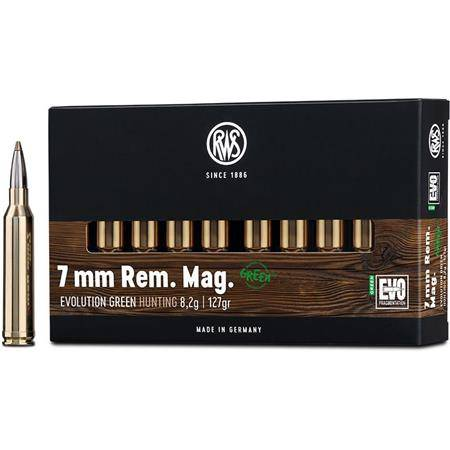 BALLE DE CHASSE RWS EVOLUTION GREEN - 127GR - CALIBRE 7 RM
