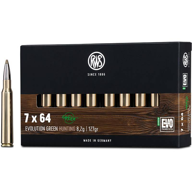 Balle De Chasse Rws Evolution Green - 127Gr - Calibre 7X64