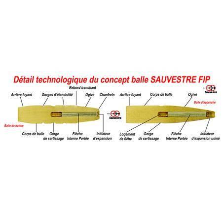 BALLE DE CHASSE SAUVESTRE GRANDE CHASSE - 211GR - CALIBRE 35 WHELEN