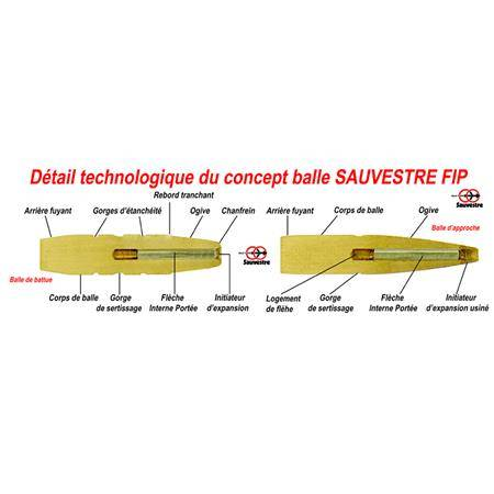 BALLE DE CHASSE SAUVESTRE GRANDE CHASSE - 254GR - CALIBRE 9.3X74R
