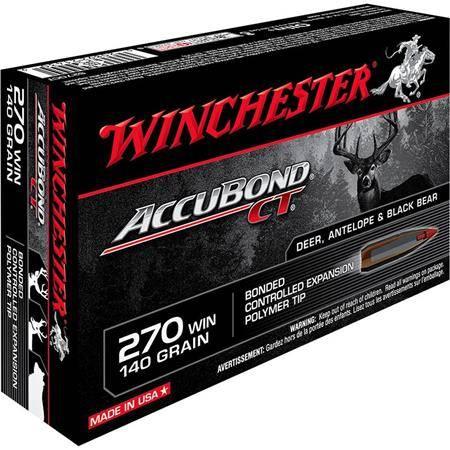 Balle De Chasse Winchester Accubond - 140Gr - Calibre 270 Win
