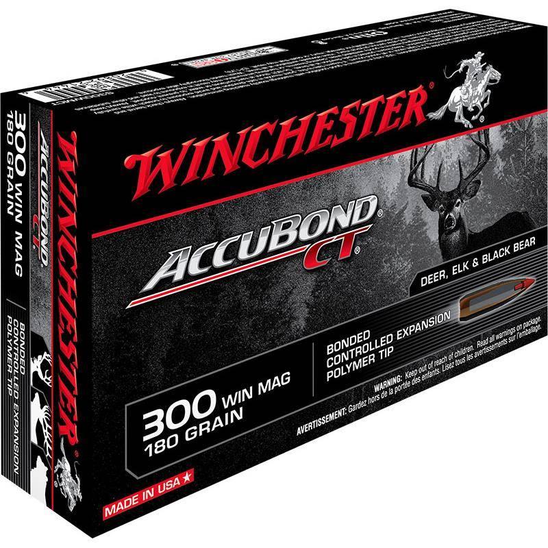 Balle De Chasse Winchester Accubond - 180Gr - Calibre 300 Win Mag