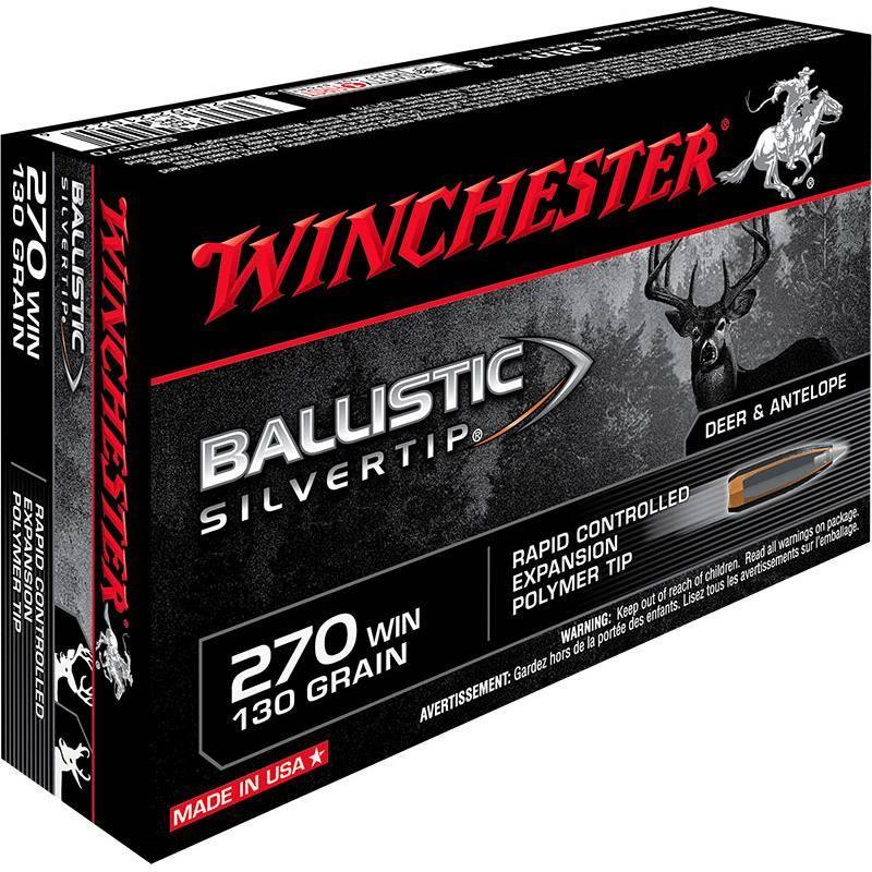Balle De Chasse Winchester Ballistic Silvertip - 130Gr - Calibre 270 Win