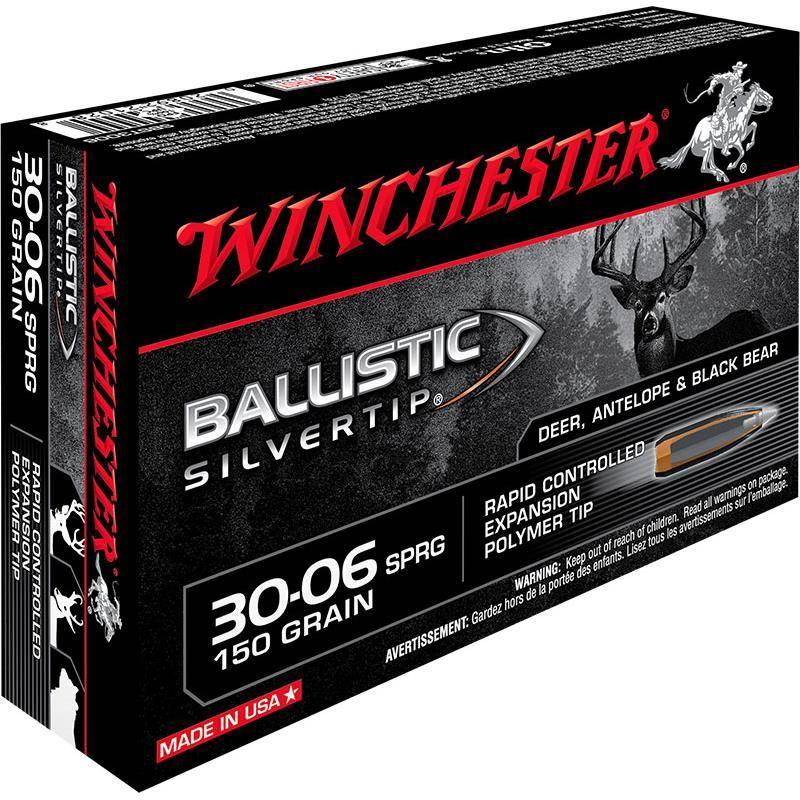 Balle De Chasse Winchester Ballistic Silvertip - 150Gr - Calibre 30-06 Sprg
