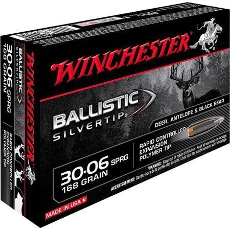 Balle De Chasse Winchester Ballistic Silvertip - 168Gr - Calibre 30-06 Sprg