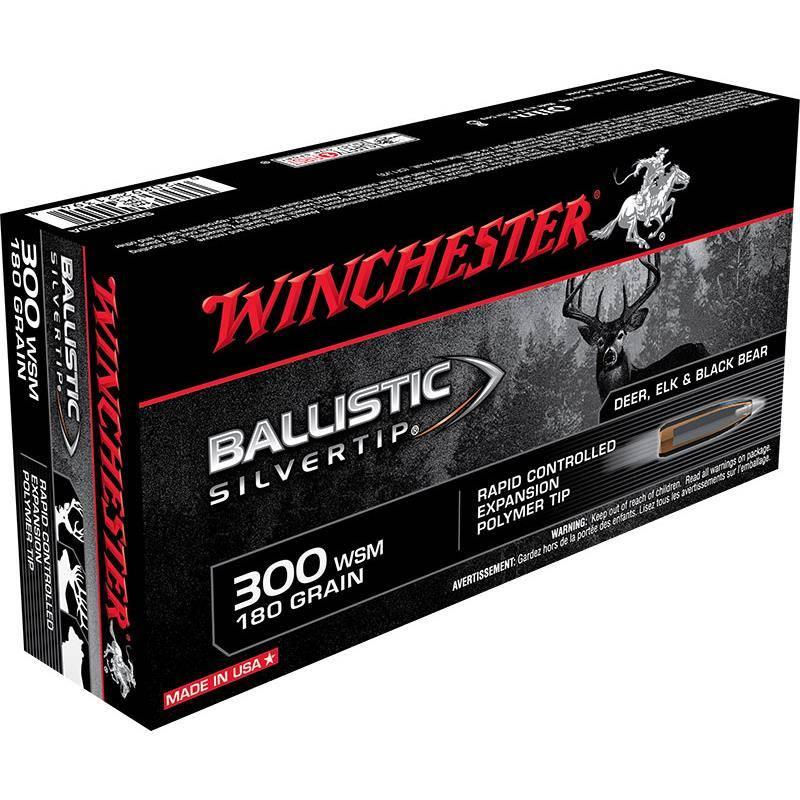 BALLE DE CHASSE WINCHESTER BALLISTIC SILVERTIP - 180GR - CALIBRE 300 WSM