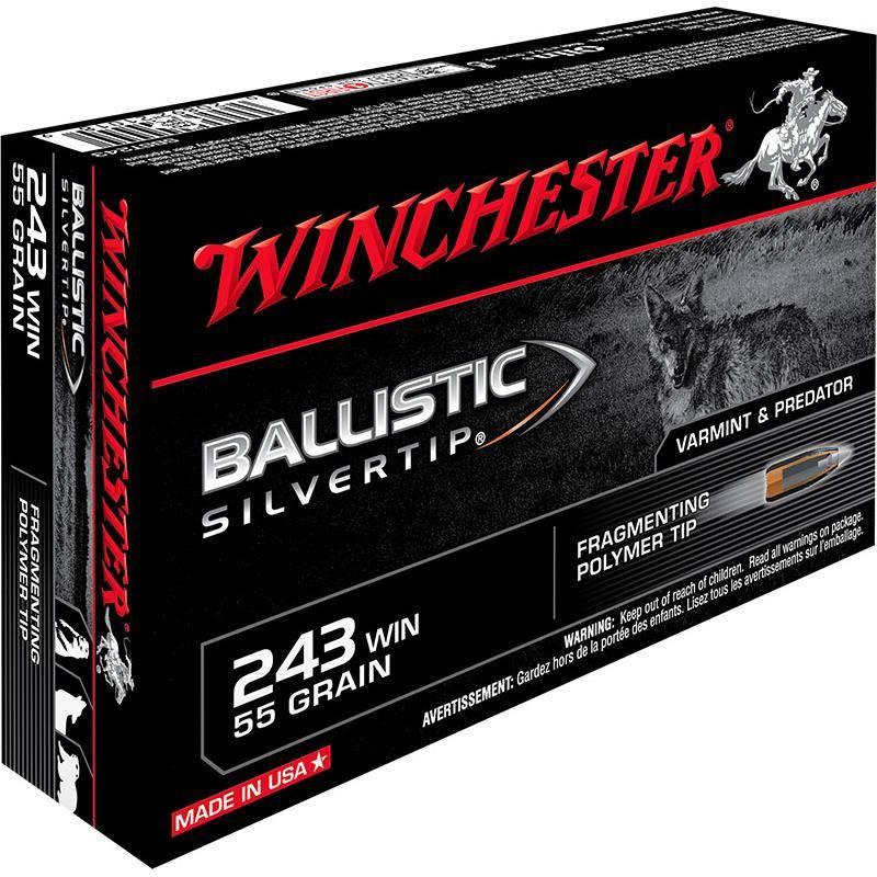 Balle De Chasse Winchester Ballistic Silvertip - 55Gr - Calibre 243 Win