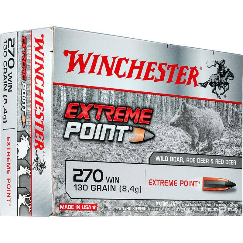 BALLE DE CHASSE WINCHESTER EXTREME POINT PLOMB - 130GR - CALIBRE 270 WIN