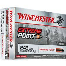 Balle de chasse winchester extreme point plomb - 95gr - calibre 243 win