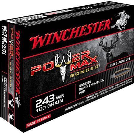 Balle De Chasse Winchester Power-Max Bonded - 100Gr - Calibre 243 Win