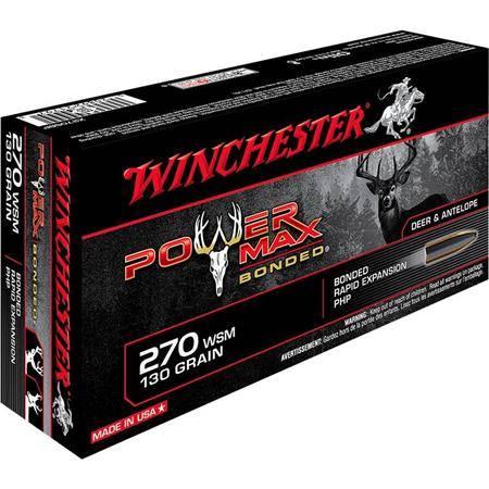 Balle De Chasse Winchester Power-Max Bonded - 130Gr - Calibre 270 Wsm