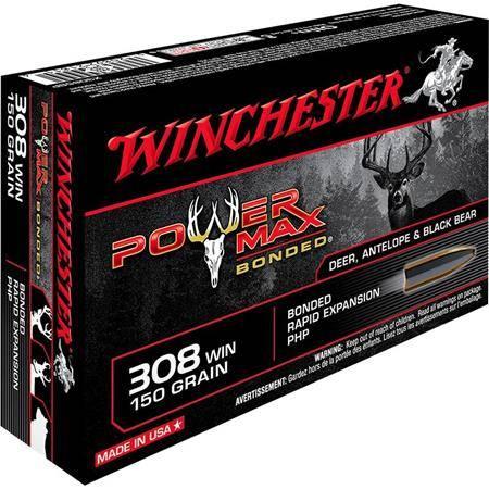 Balle De Chasse Winchester Power-Max Bonded - 150Gr - Calibre 308 Win