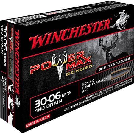 Balle De Chasse Winchester Power-Max Bonded - 180Gr - Calibre 30-06 Sprg