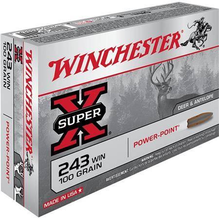 Balle De Chasse Winchester Power Point - 100Gr - Calibre 243 Win