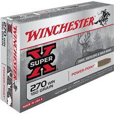 Balle de chasse winchester power point - 150gr - calibre 270 win