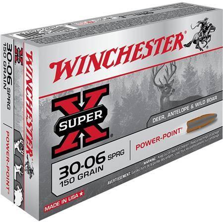 Balle De Chasse Winchester Power Point - 150Gr - Calibre 30-06 Sprg