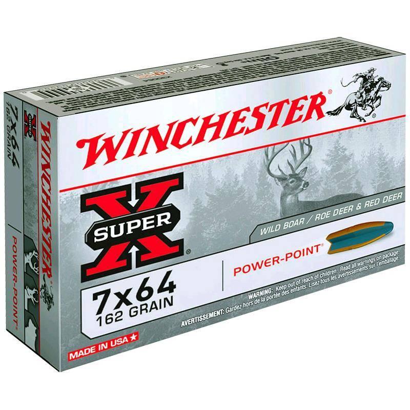 Balle De Chasse Winchester Power Point - 162Gr - Calibre 7X64
