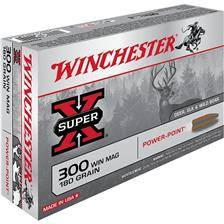 Balle de chasse winchester power point - 180gr - calibre 300 win mag