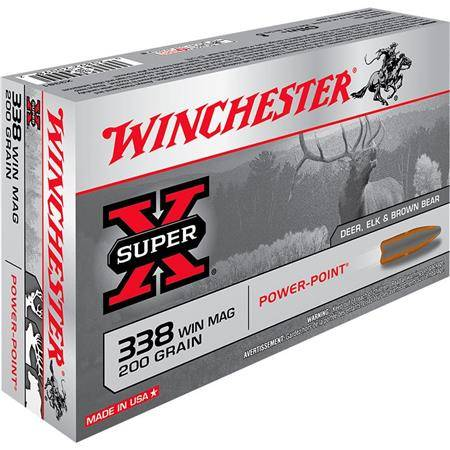 Balle De Chasse Winchester Power Point - 200Gr - Calibre 338 Win Mag