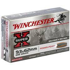 Balle de chasse winchester power point - 286gr - calibre 9.3x62