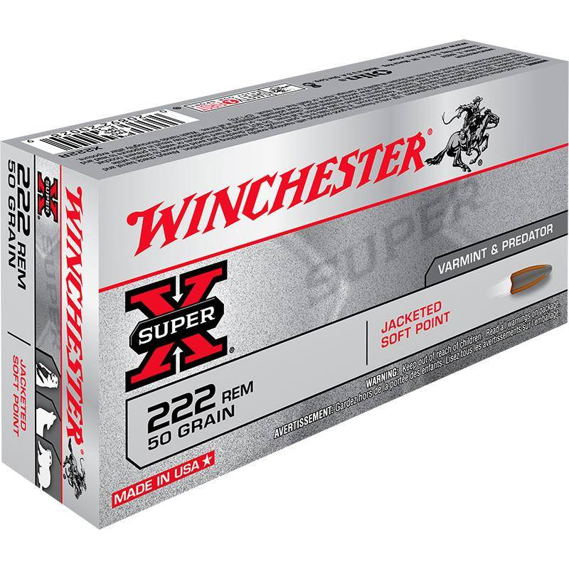 Balle De Chasse Winchester Power Point - 50Gr - Calibre 222 Rem