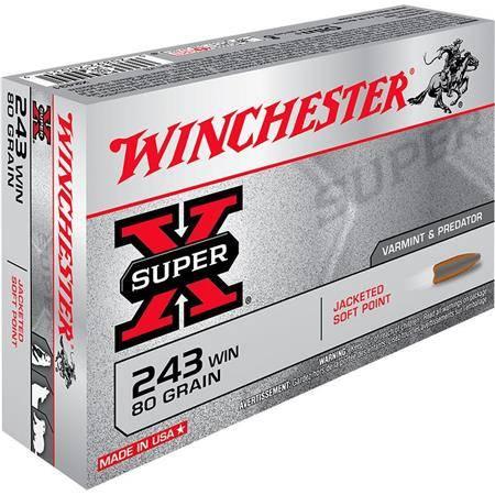 Balle De Chasse Winchester Power Point - 80Gr - Calibre 243 Win