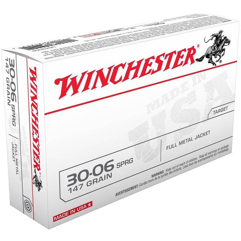 Balle De Chasse Winchester Winch Fmj - 147Gr - Calibre 30-06 Sprg