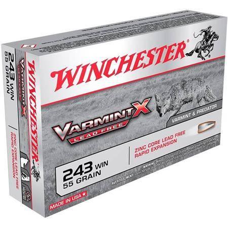 Balle De Chasse Winchester Winch Varmint Lead Free X - 55Gr - Calibre 243 Win