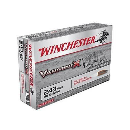Balle De Chasse Winchester Winch Varmint X - 58Gr - Calibre 243 Win